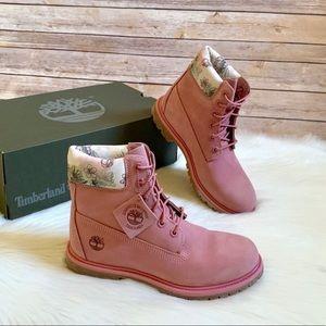 "Timberland Medium Pink Premium 6"" Waterproof Boots"